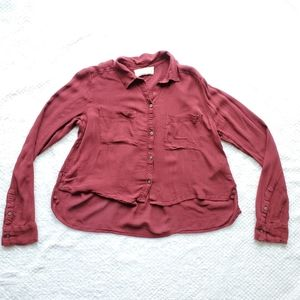 Abercrombie & Fitch/ Red High Low Shirt/Size S